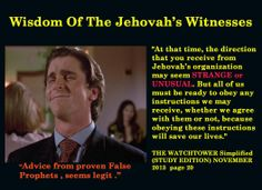 Obey God, not any church or organization that claims it speaks from God yet make prophesies that never came true. Ex Jehovah Witness, Jehovah S Witnesses, Public Witnessing, Religious People, Bible Words, Atheism, Thought Provoking, Breakup, Religion