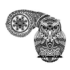 As prominent symbols in Eastern and Western countries, owls have strong cultural ties to mythology, spirituality, and literature. While European folklore portrayed owls as omens of death and doom, Anc. Symbol Tattoos With Meaning, Owl Tattoo Meaning, Symbolic Tattoos, Polynesian Tattoo Designs, Maori Tattoo Designs, Owl Tattoo Design, 1 Tattoo, Samoan Tattoo, Dot Work Tattoo
