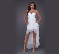 hi lo wedding dress... too short in the front