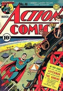 Action Comics 46 - Superman - Roller Coaster - Tent - Worlds Largest Selling Comic Magazine - March Superman Comic, Old Superman, Superman Action Comics, Dc Comics Art, Marvel Dc Comics, Superman Stuff, Dc Comic Books, Vintage Comic Books, Vintage Comics