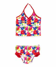 Love this Red Floral Hello Kitty Tankini - Infant, Toddler & Girls on #zulily! #zulilyfinds