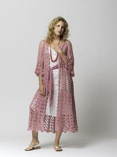 Lacy Duster by Doris Chan -  This in a darker colour and straight sleeves, yes!
