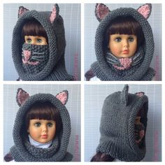 *This is an *** INSTANT DOWNLOAD PDF *KNITTING* PATTERN ***not a finished product. CAT HOOD WITH COWL is super cute, comfy, stylish + extra functional both for boys and girls. It is hood, cowl, neck warmer, ear warmer and even nose warmer: )) all in one. In cold and windy weather pull up the cowl and cover mouth, nose and ears…great way to protect your kids or yourself from ear infection or catching a cold. If the weather is good pull the cowl under your chin. You can make this pattern for…