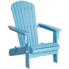 Monterey Sky Blue Wood Adirondack Chair found on Polyvore