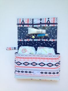 Diaper Clutch  Diaper Bag by ThreeSistersSewing on Etsy