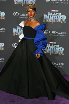 Janelle Monáe at the 'Black Panther' Premiere