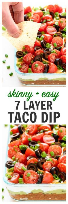 The BEST Classic 7 Layer Dip, made better with simple, fresh ingredients…all clean eating ingredients are used for this healthy dip recipe. Pin this appetizer recipe to try later. 7 Layer Taco Dip, Layered Taco Dip, Layer Dip, Organic Recipes, Mexican Food Recipes, Vegetarian Recipes, Healthy Recipes, Dip Recipes, Best Taco Dip Recipe