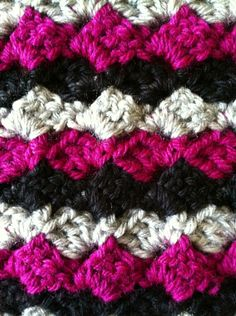 Crazy Stitch...similar to C2C, but straight lines instead of diagonal. Loving the texture.