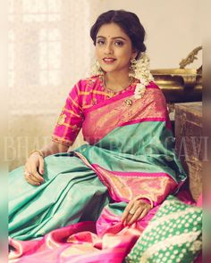 Being graceful can never go out of fashion..one of the most beautiful things in this world is a woman in a saree and a Kanjeevaram saree needs no introduction ud83dudc96A latest collection beautiful Kanjeevarams now at our studio. Limited stock.Beautiful @vithikasheru in a checkered Kanjeevaram saree with a pink border.Photographed by @lenskumar . 11 October 2016