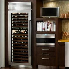 Contemporary Wine Refrigerator from Sub-Zero, Model: Classic Stainless