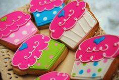 Cute cupcake cookies.  I don't like the heart, though.