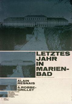 Film poster, Letztes Jahr in Marienbad. By Hans Hillmann