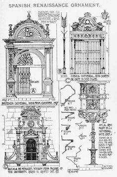 Spanish Renaissance ornaments A History of Architecture on the Comparative Method by Sir Banister Fletcher