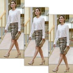 Queen Letizia of Spain attends a meeting with members of 'Princesa de Asturias' foundation at El Pardo Royal Palace on June 22 2015 in Madrid Spain