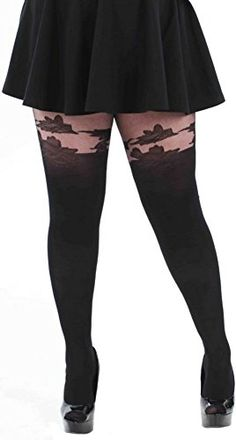 02b52dda4 Fashion Bug Women s Plus Size Floral Mock Suspender Pantyhose.  www.fashionbug.us  plussize