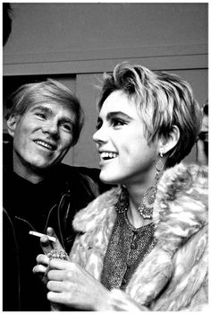 Manhattan, New York City, New York State, USA Andy Warhol Looks Adoringly at Edie Sedgwick 1965  Photo Steve Shapiro