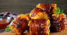 Bacon Wrapped Corn, Grilling Recipes, Cooking Recipes, Chocolate Avocado Smoothie, Hickory Bbq, Amazing Vegetarian Recipes, Three Ingredient Recipes, Food Categories, Tandoori Chicken