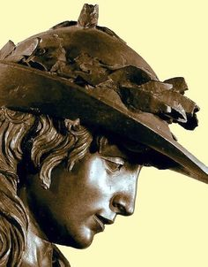 DONATELLO - Italian (1386 - 1466) David 1430s Italian Renaissance, Renaissance Art, Leon Battista Alberti, Filippo Brunelleschi, Italian Sculptors, Bronze, Jan Van Eyck, Miguel Angel, Italian Artist