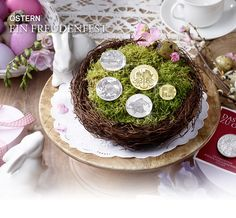 #Easter at #Austrian #Mint: give #Gold and #Silver #Coins this #Easter Mint, Table Decorations, Silver Coins, Austria, Google, Easter, Weihnachten, Silver Quarters, Peppermint