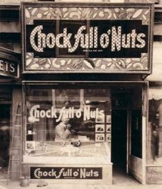 Old Chock full o'Nuts store front, New York City. When we were in the City, Mom took us there for date-nut cream cheese sandwiches, chocolate milk and the best-ever whole wheat donuts. Vintage New York, Old Photos, Vintage Photos, Rock N Roll, Ny Ny, Old Signs, Thats The Way, The Good Old Days, Shop Signs