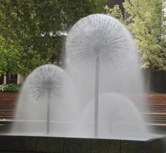 Dandelion Fountain in Christchurch, New Zealand