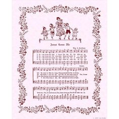 JESUS LOVES ME 8x10 Antique Hymn Pif Pay It by VintageVerses, $2.00