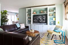 build around your teve to get more space and a custom-made media-unit