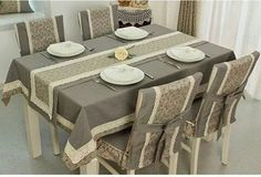 Table Covers Sofa Covers Dining Set Dining Chairs Mug Rugs Dinner Table Kitchen Towels Table Runners Table Linens Dining Table Cloth, Dinning Room Tables, Table Linens, Dining Chairs, Chair Covers, Table Covers, Balcony Chairs, Diy Home Decor, Room Decor