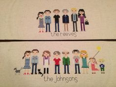 custom family cross stitch via www.thepickledbean.com