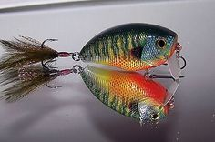 Custom Painted BASS SNAX Wake Crank Bait Rattlin' Fishing Lure Bad Ass Bream