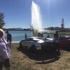 I think someone hit a sprinkler driving in. 3rd annual #concoursinthehills event in #fountainhills #az #arizona #phoenix #cardetailing #cardetailer #autodetailing #autorunnersdetailing #carshow #lambo #lamborghini #cars #wax #washnwax @lamborghini_vs_ferrari @lamborghini