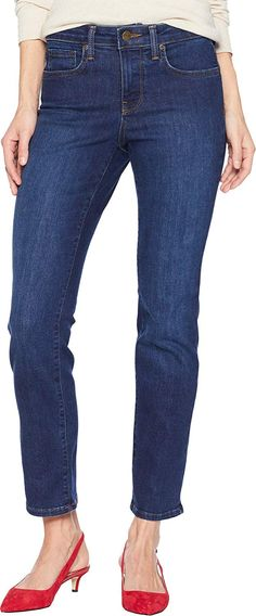 NYDJ Womens Petite Sheri Slim Jean Clothing, Amazon Affiliate link. Click image for detail, #Amazon #nydj #womens #petite #sheri #slim #jean #clothing #cotton #polyester #lyocell #fibers #elastane #imported #button #fly #closure #machine #wash #composed #premium #denim #jeans #feature #incredibly #soft #texture #highquality #blend #excellent Best Jeans For Women, Petite Jeans, Low Rise Jeans, Slim Jeans, Jeans Brands, Jean Outfits, Perfect Fit, Fashion Brands, Topshop