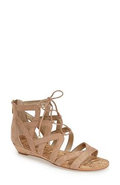 Free shipping and returns on Sam Edelman 'Dawson' Ghillie Sandal (Women) at Nordstrom.com. Crisscrossed ghillie laces bridge the open top of abreezy sandal set on a low cork wedge.