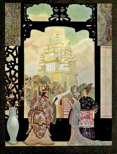 Look at the BACKGROUND!! gorgeous illustrations by Thomas Blakeley Mackenzie.