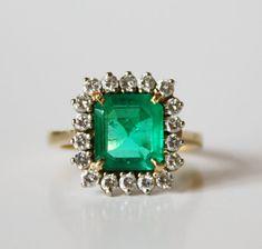 3 Carat Fine Columbian Emerald Cut Emerald by ParisCoutureAntiques, $5000.00