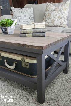 Barn Wood Top Coffee Table