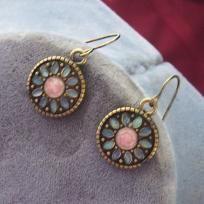 Free S - Vintage Enameled Earrings - E212                      $12.98