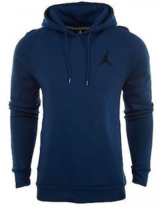 Nike Jordan Jumpman Brushed Pull Over French Blue Hoodie 689267-442 Mens Size XL