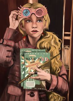 A study of Luna Lovegood ( Evanna Lynch ) aboard the Hogwarts Express. Having been a fan of the Harry Potter series for so long, I felt the need to create this piece. Harry Potter Sketch, Harry Potter Girl, Harry Potter Artwork, Harry Potter Anime, Harry Potter Fandom, Harry Potter Characters, Luna Lovegood, Harry Potter Merchandise, Harry Potter Collection