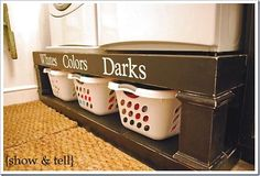 Wish I would have seen this when I redid our laundry room last year... Maybe our next house!