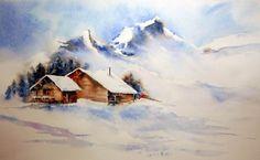 Ma passion pour l'aquarelle - Chalets savoyards - Montrez-nous vos aquarelles