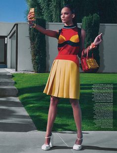 Cora Emmanuelfor W Magazine's March 2014 issue, photographed byEmma Summertonand styled byGiovanna Battaglia