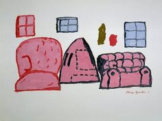 Philip Guston, Untitled   1971 Oil on Paper 56.5 x 71.5 cm