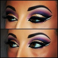 Gold And Purple Egyptian Eyeshadow. So beautiful got to try this!