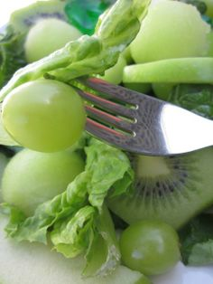The Most Amazing Green Salad Ever with Honey Lime Dressing