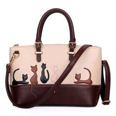 Women Cute Cat Rabbit PU Leather Handbags Casual Shoulder Bag Detachable Belt Handbags Lady Messenger Crossbody Daily Tote G0805