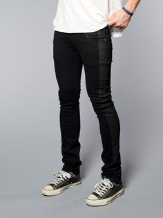 Tight Long John Organic Black on Black - Nudie Jeans Online Shop.