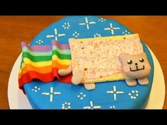 This super-cute Nyan Cat cake is from a YouTube favorite: Nerdy Nummies. We think Rosanna is just adorable and she is so creative. It's a great channel to find great Geek treats. She rocks!