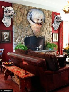 Taxidermied Heads of Star Wars Creatures Mounted on Fireplaces SHUT UP  TAKE MY MONEY