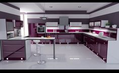 Create a kitchen just like this with RAUVISIO brilliant high-gloss cabinets in Vino | https://www.rehau.com/us-en/furniture/surfaces/rauvisio-brilliant
